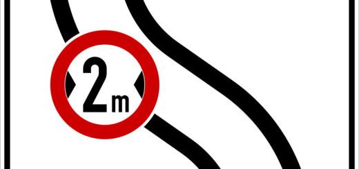 Baustellen_2m-Begrenzungsschild